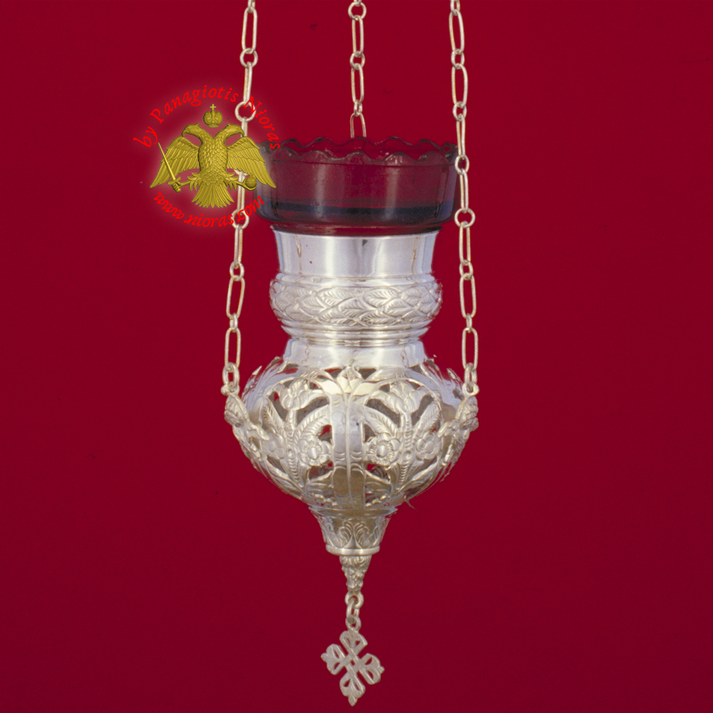 Kerkiraiko Style No.0 Silver Sterling Hanging Oil Candle Hand Cut