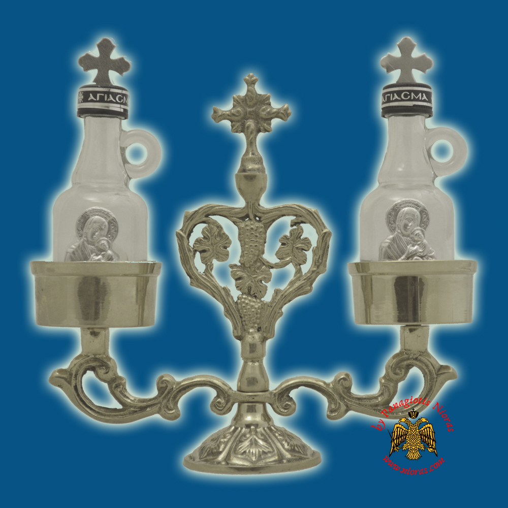 Orthodox Special Case for Holy Oil - Communion Wine Set Nickel Plated
