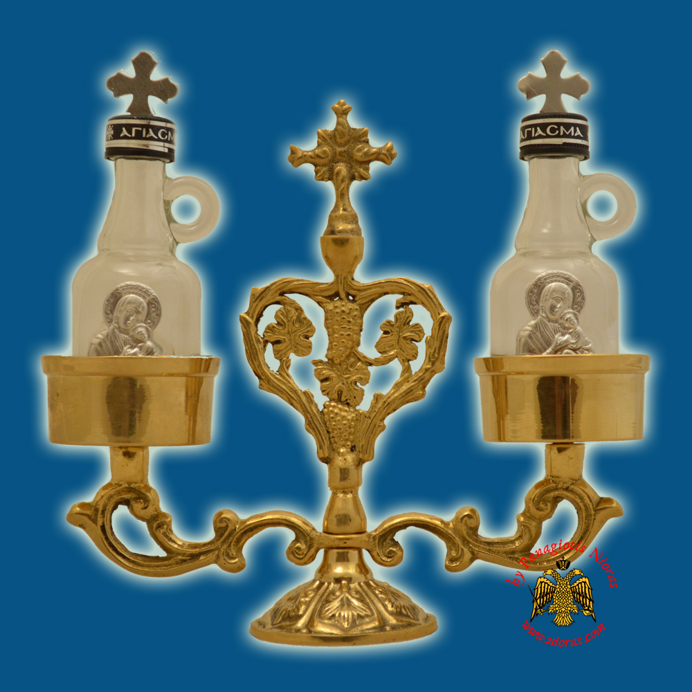Orthodox Special Case for Holy Oil - Communion Wine Set Brass Polished