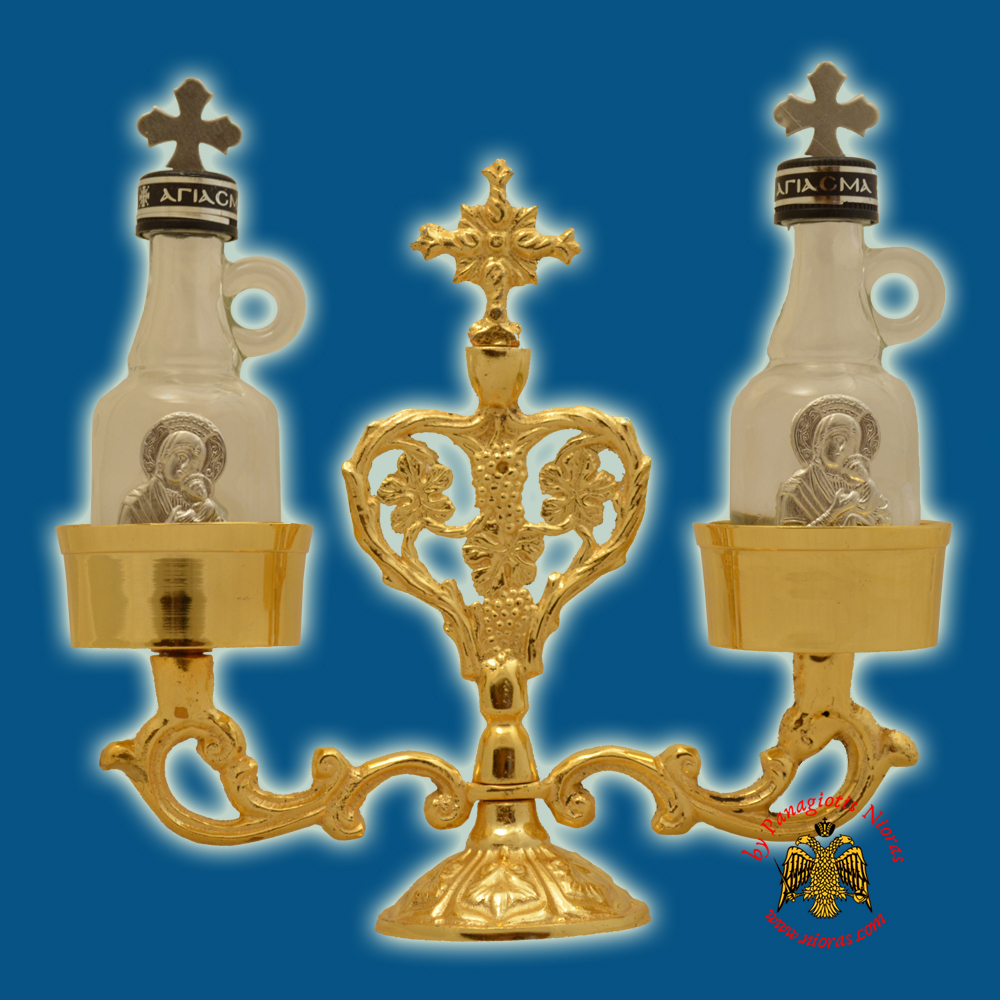Orthodox Special Case for Holy Oil - Communion Wine Set Gold Plated