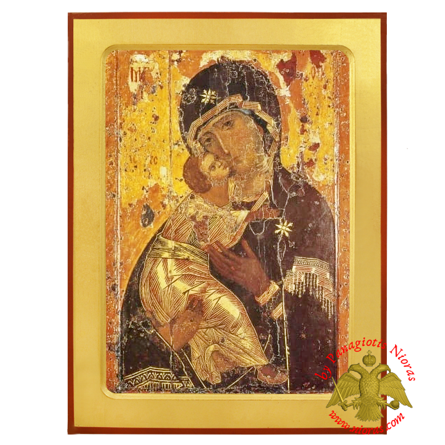 Holy Virgin Mary Vladimir Russian Wooden Icon