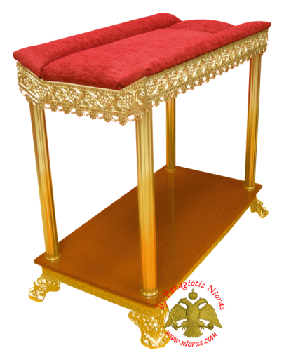 Orthodox Church Aluminium Table with Velvet 110x60x93cm