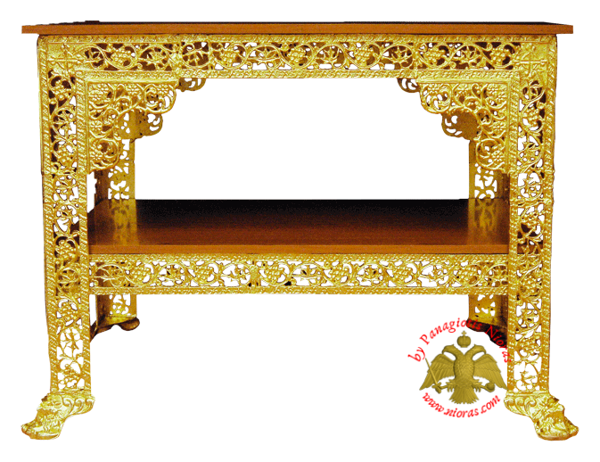 Orthodox Church Aluminium Table 61x103x82cm