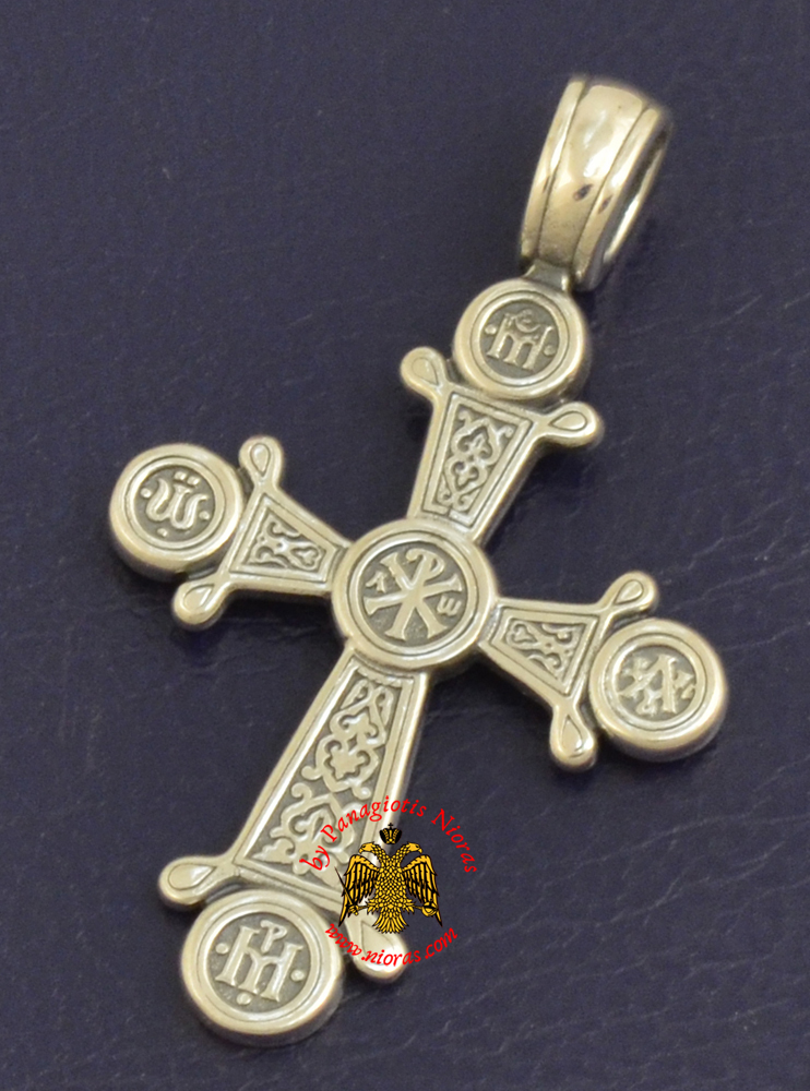 Byzantine Orthodox Cross Silver 925 ARXO Design for the Neck
