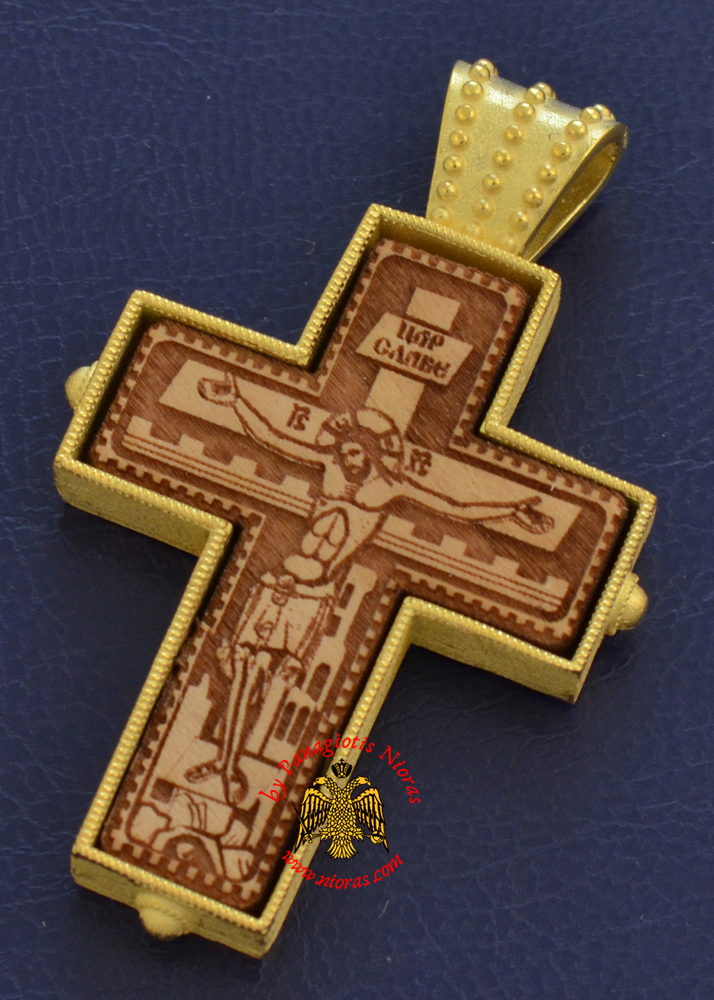 Neck Cross Silver 925 Gold Plated Cross_XS083