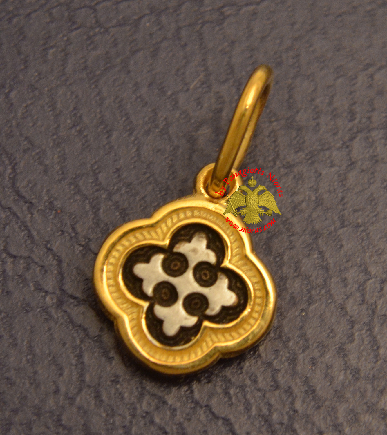 Byzantine Orthodox Cross Motif Silver 925 Gold Plated for the Neck