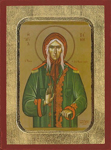 Saint Xeni Russian Byzantine Wooden Icon