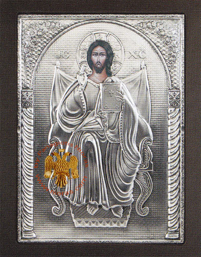 Christ on the Throne Aluminum Icon