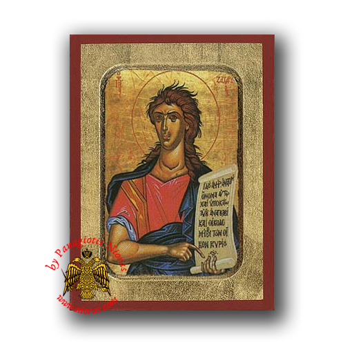 Zacharias the Prophet Byzantine Wooden Icon