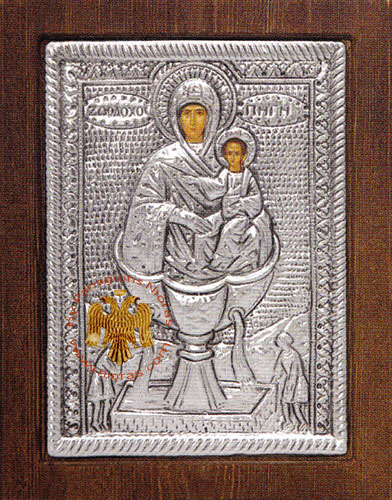 Life Giving Spring Silver Plated Icon
