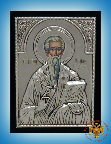 Holy Icon of Saint Titos Silver Plated