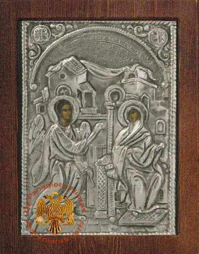Annunciation Silver Plated Icon