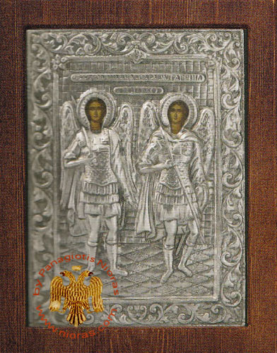 Archangels Silver Plated Icon