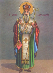 Saint Alexander, Patriarch of Constantinople, Classic Style Wooden Icon