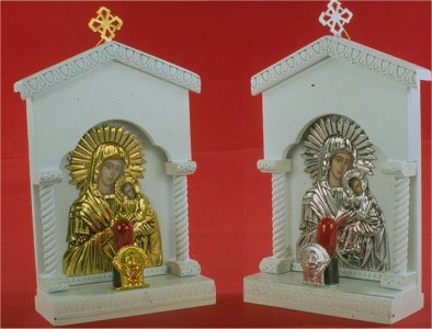 Traditional Orthodox Icon with Electric Lamp C' White Coloured