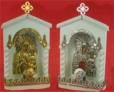 Traditional Orthodox Icon with Electric Lamp E' White Coloured