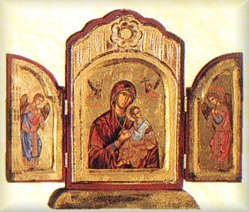 Triptych Hagiography C with Base