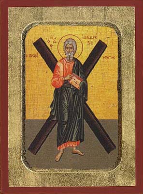 Andrew the Apostle with Cross