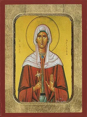 Saint Christine from Syria Byzantine Wooden Icon