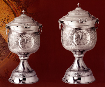 Hand Carved Baptismal Fonts With Baptism Nickel