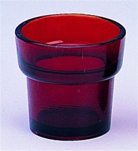 Replacement Oil Candle Glass Cup Design Delta Natural Red