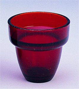 Replacement Oil Candle Glass Cup Design  M2 Natural Red