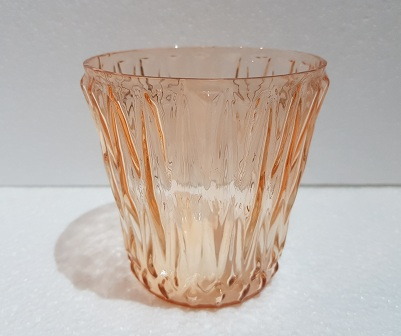 Glass Coloured Cup Shaped Tea Light Candle  8x8x8cm