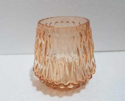 Glass Coloured Cup Wide Base Shaped Tea Light Candle 10x10x10cm