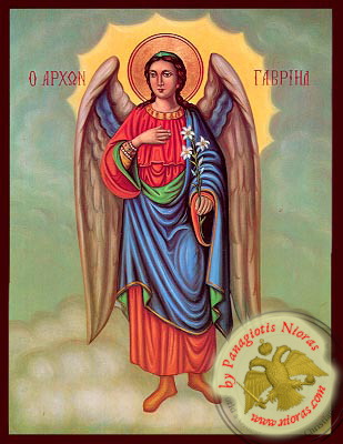 Gabriel Archangel Neoclassical Wooden Icon