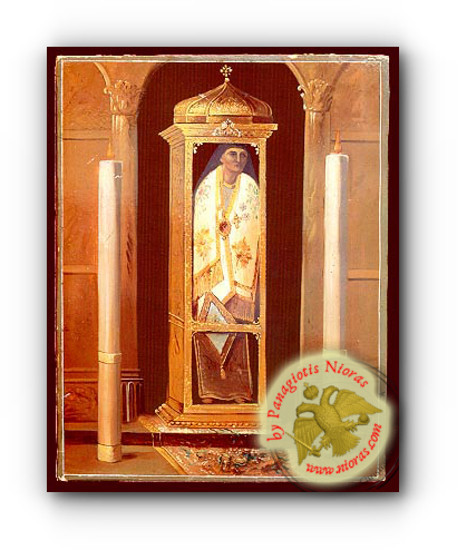 Saint Dionysius of Zante, Greece, Bishop of Aegina Neoclassical Wooden Icon