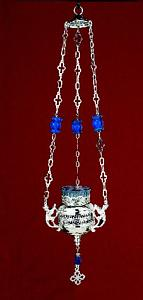 Greka Design with Beads Hanging Oil Candle