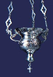 Byzantine Style No.1 Silver 950 Hanging Oil Candle