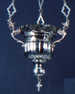 Byzantine Style No.2 Silver 950 Hanging Oil Candle