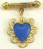 Heart Design Baptism Pin