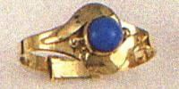 Children Ring With Single Blue Stone Design A