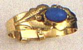 Children Ring With Single Blue Stone Design B