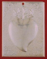 Tamata Ex Voto Milagros Aluminium Votive Tama with design Heart
