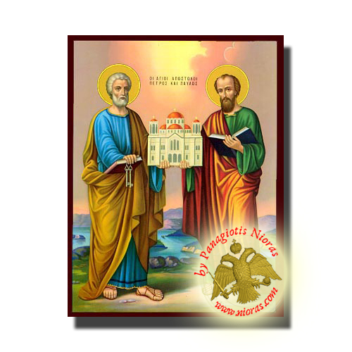 Peter and Paul the Apostles Classic Wooden Icon