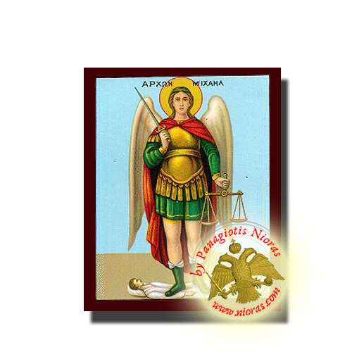Michael Archangel Neoclassical Orthodox Wooden Icon Full Body
