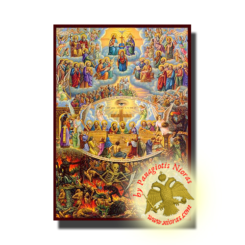 Judgement Day - Neoclassical Wooden Holy Icon