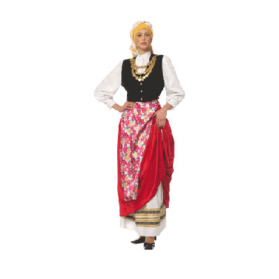 Cefalonian Female Traditional Dance Costume