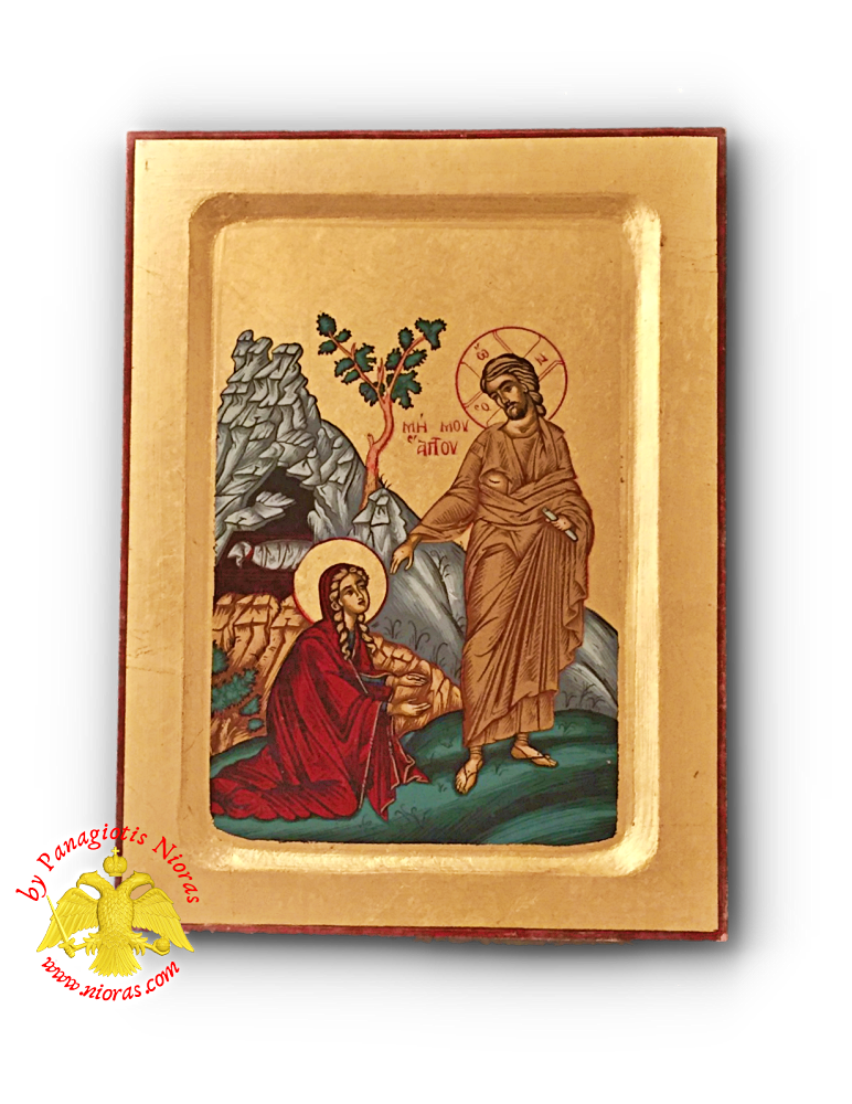 Christ Noli Me Tangere Wooden Byzantine Icon on Canvas